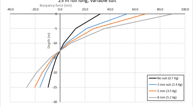 Freediving buoyancy and its effect on energy expenditure